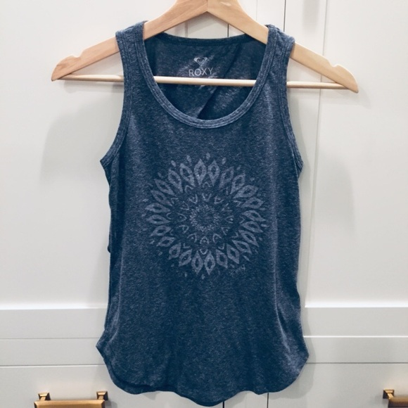 Roxy Tops - Roxy open back mandala tank top